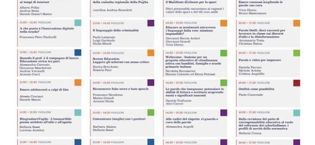 21-11-2018: #losportchemipiace - Parole a Scuola a Bari il 30 novembre